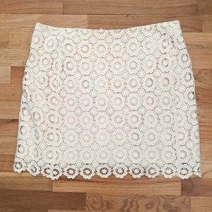 Like new ivory lace mini skirt